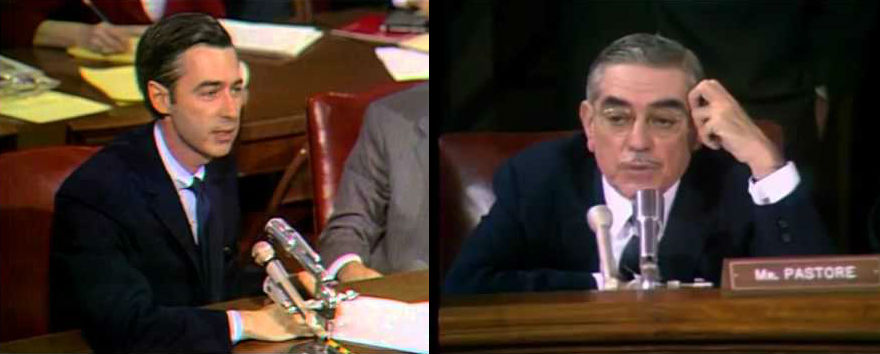 Fred Rogers at a 1969 Senate hearing